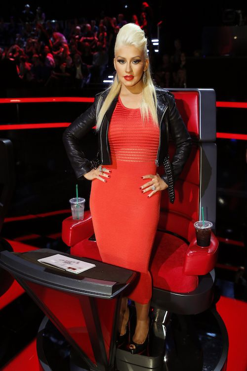 "THE VOICE -- ""Live Top 12"" Episode 813A -- Pictured: Christina Aguilera -- (Photo by: Trae Patton/NBC)"
